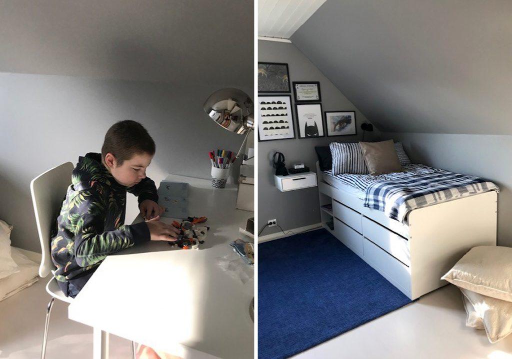 August i sitt nya rum från IKEA