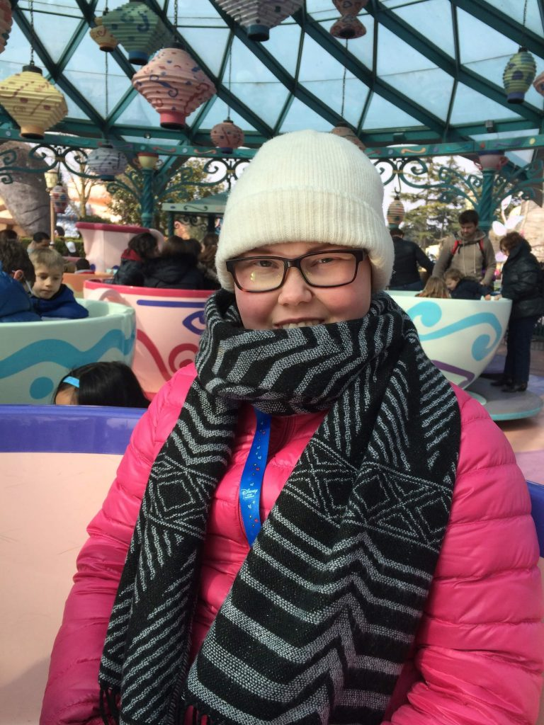 Salma på Disneyland