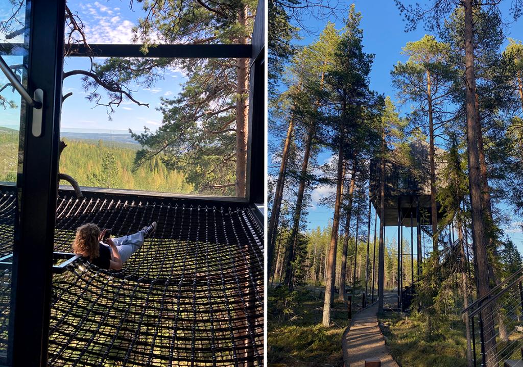 Lina sov på Treehotel på sin Stora Dag